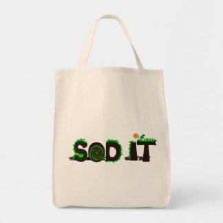 """""""Sod It"""" Grass Sod Design Tote Bag"""