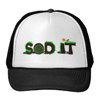 """Sod It"" Grass Sod Design Trucker Hat"