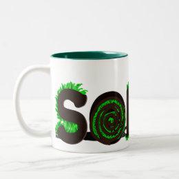 """""""Sod It"""" Grass Sod Design Two-Tone Coffee Mug"""
