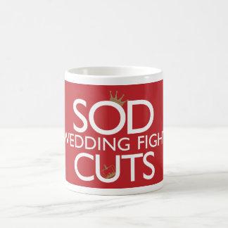 Sod la lucha del boda los cortes tazas