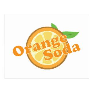 Soda anaranjada tarjetas postales