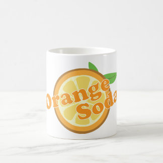 Soda anaranjada taza de café
