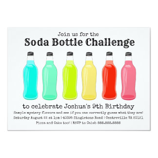 Soda Bottle Challenge Birthday Party Card