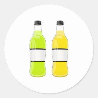 Soda Bottles Classic Round Sticker