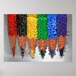 Soda Bubble Pencils Print