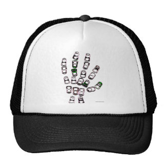 Soda can pull tab hand hat