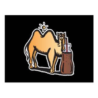 soda de consumición del camello divertido tarjetas postales