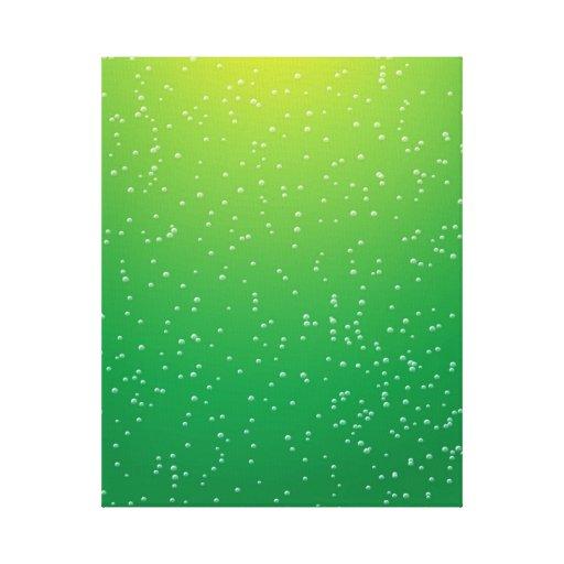 Soda de la cal con arte minúsculo del fondo de las impresiones en lienzo estiradas