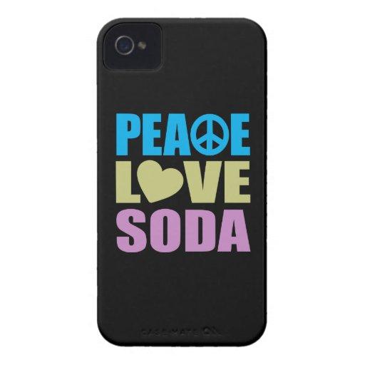 Soda del amor de la paz iPhone 4 cobertura