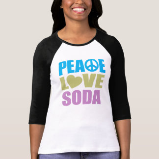 Soda del amor de la paz camiseta