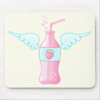 Soda divina de la fresa alfombrilla de ratones