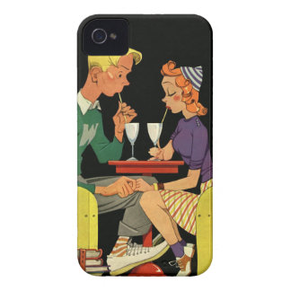 Soda for Two - Vintage 50's Illustration iPhone 4 Cover