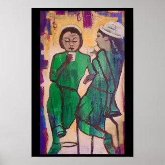 Soda Girls by Rudy Milante Poster