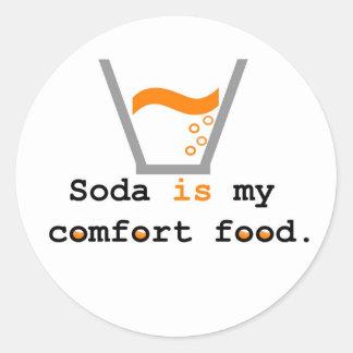 Soda is my Comfort Food Classic Round Sticker
