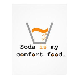 Soda is my Comfort Food Letterhead Template