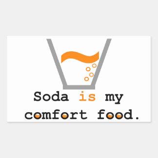 Soda is my Comfort Food Rectangular Sticker