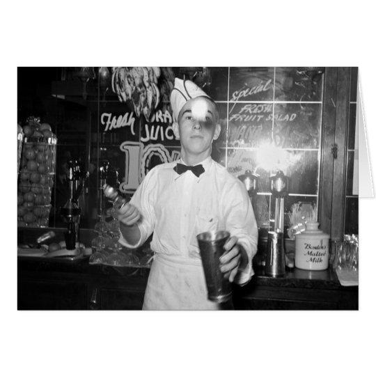 Soda Jerk, 1930s Card