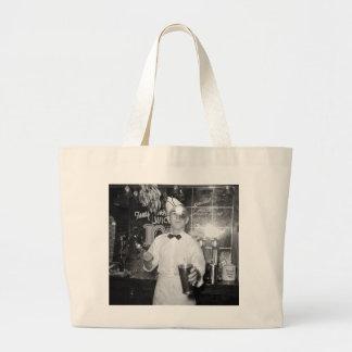 Soda Jerk, 1930s Large Tote Bag
