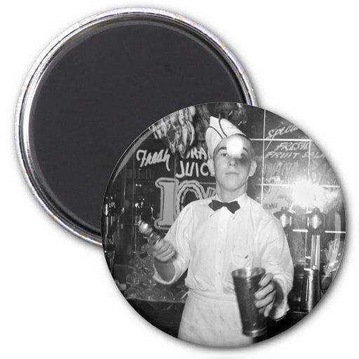 Soda Jerk, 1930s Magnet