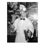 Soda Jerk, 1930s Post Card