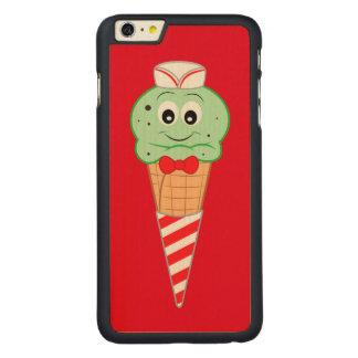 Soda Jerk Ice Cream Cone Mint Chocolate Chip Carved® Maple iPhone 6 Plus Slim Case