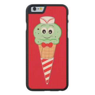 Soda Jerk Ice Cream Cone Mint Chocolate Chip Carved® Maple iPhone 6 Slim Case