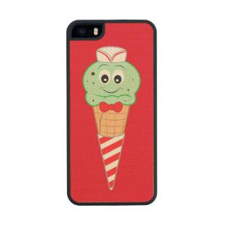 Soda Jerk Ice Cream Cone Mint Chocolate Chip Wood iPhone SE/5/5s Case