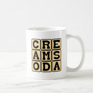 Soda poner crema, refresco taza