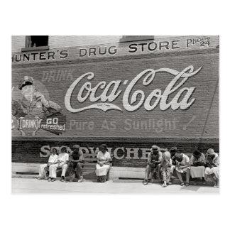 Soda Pop Billboard, 1939 Postcard