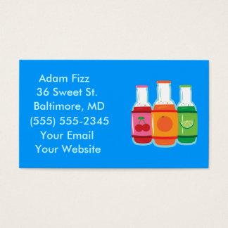 Soda Pop Bottle Business Cards