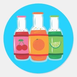 Soda Pop Bottles Classic Round Sticker