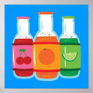 Soda Pop Bottles Poster
