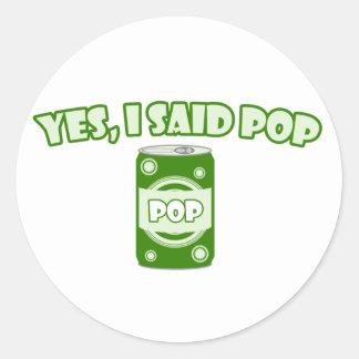 Soda Pop Classic Round Sticker