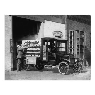 Soda Pop Delivery Truck, 1924 Postcard