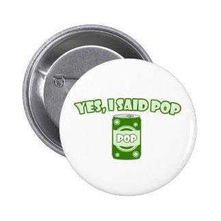 Soda Pop Pinback Button