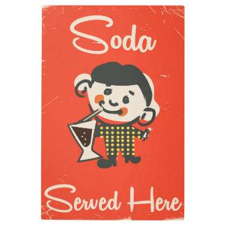 Soda Served here vintage Drinks commercial Metal Print