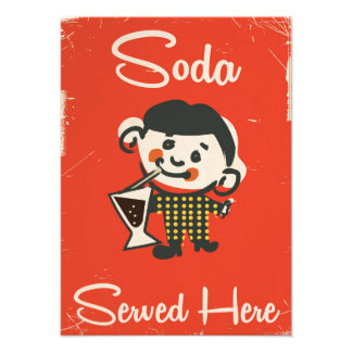 Soda Served here vintage Drinks commercial Photo Print
