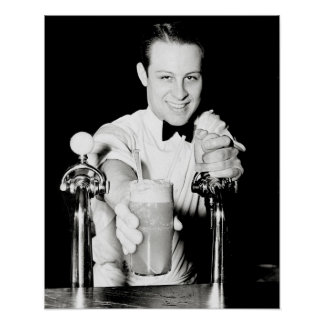 Soda Shop, 1936. Vintage Photo Poster
