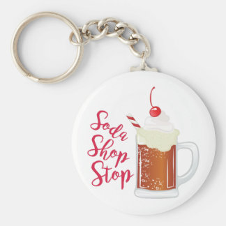 Soda Shop Stop Keychain
