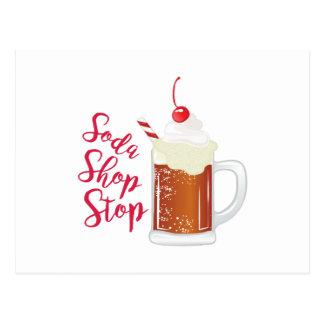 Soda Shop Stop Postcard