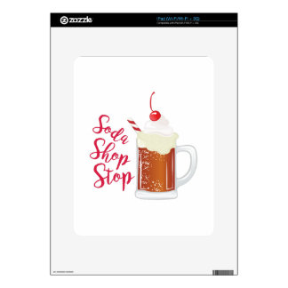 Soda Shop Stop Skins For The iPad