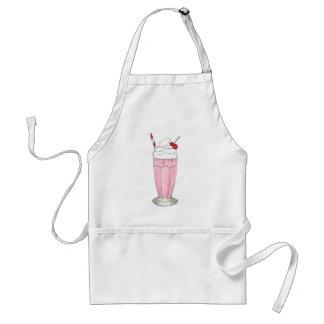 Soda Shoppe Strawberry Ice Cream Milkshake Shake Adult Apron