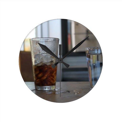 Soda y agua reloj