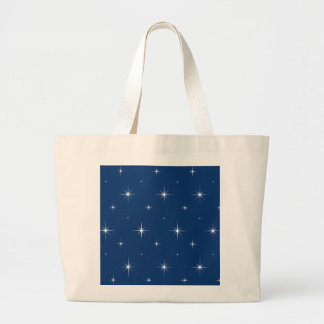 Sodalite Blue And Bright Stars Elegant Pattern Canvas Bag