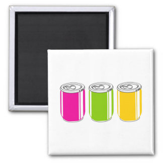 Sodas 2 Inch Square Magnet