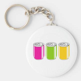 Sodas Basic Round Button Keychain