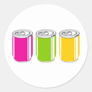 Sodas Round Stickers