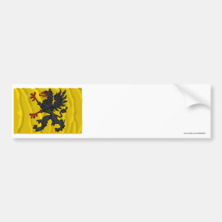 Södermanlands län waving flag bumper sticker