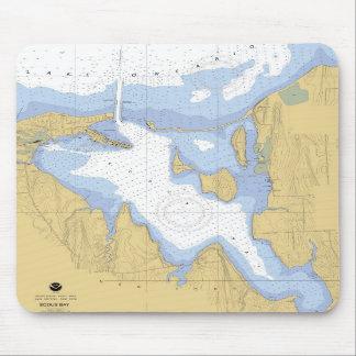 Sodus Bay NY Nautical Harbor Chart Mousepad