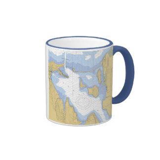Sodus Bay NY Nautical Harbor Chart Mug